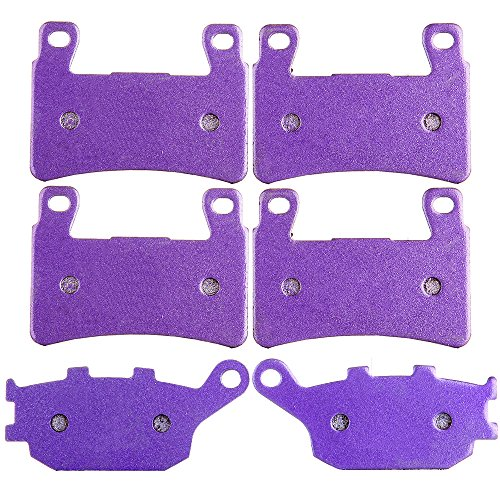 OCPTY Carbon Fiber Brake Pads Fit for 1999 2000 Honda CBR600F4 2001 2002 2003 2004 2005 2006 Honda CBR600F4i 2003 2004 Honda CBR600RR Front and Rear