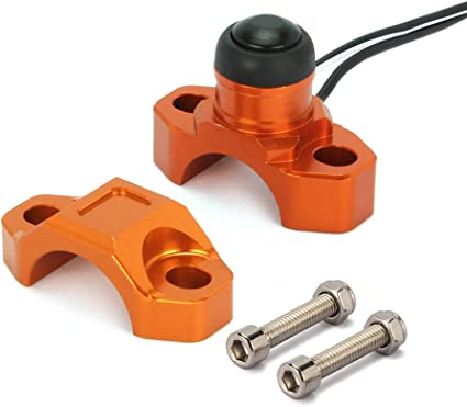 JFG RACING CNC Universal Motorcycle Engine Stop Start Kill Switch Button With Mounting Backplate For SX EXC XCF DUKE LC4 SMR SMC SUPERDUKE Orange