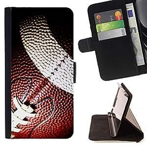Momo Phone Case / Flip Funda de Cuero Case Cover - Balón de fútbol;;;;;;;; - Sony Xperia Style T3
