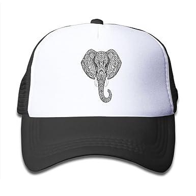 Amazon.com  Lead-do Boys Girls Bohemian Elephant Mesh Cap Cute Kids Trucker  Hats Adjustable  Clothing 310dc2ab5f3