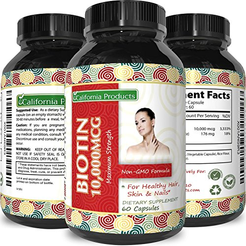 Pure And Potent Biotin Supplements To Combat Hair Loss + Support Hair Growth + Aid In Weight Loss For Men And Women - Natural Vitamins For Hair Growth - Can Help Reduce Thinning Hair ()