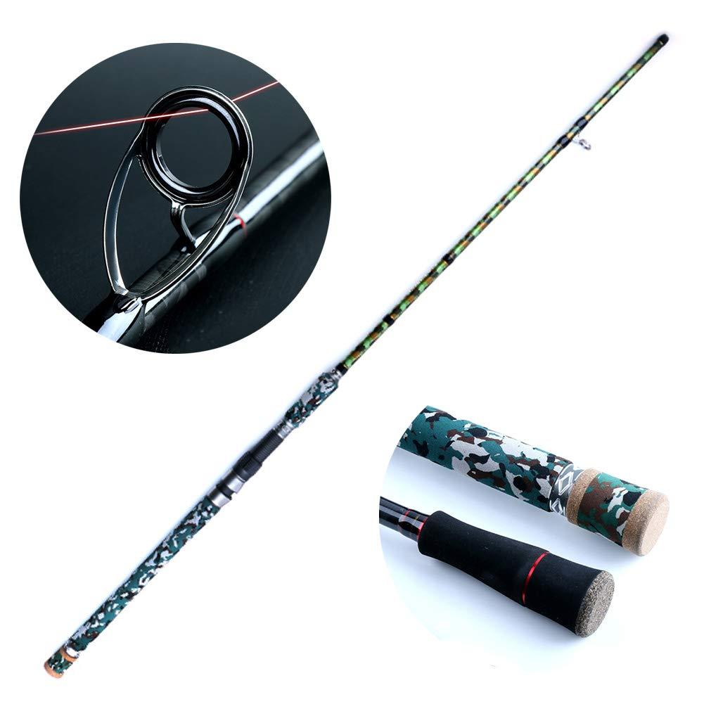黒魚のためのXH調性釣り、ポータブル釣り竿コンボ高密度カーボンウルトラライト草地用 2.4M Straight B07QJB53XN