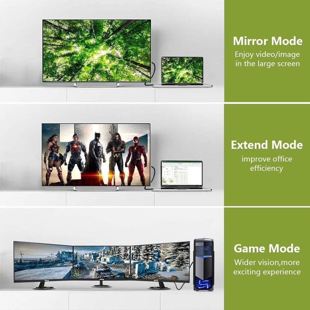 HDR pour moniteur vid/éo carte graphique etc Angusplay C/âble DisplayPort 8 K 4 K 144 Hz Ultra HD DisplayPort 1.4 compatible HBR3 32,4 Gb//s MST r/ésolution 7680 x 4320 Noir 1,5 m