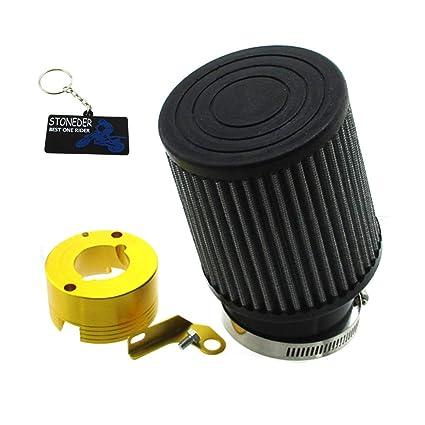 STONEDER - Filtro de Aire de 62 mm + Adaptador para Motor ...