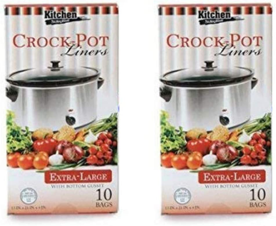 Multi-Use Large Slow Cooker - Crock Pot Liner Bags Fits 7-8 Quart Crock Pot 20 Ct