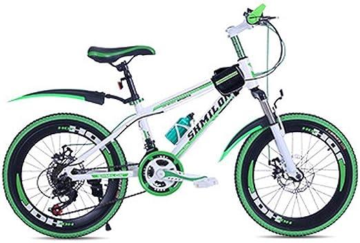 Amazon Com Kids Bikes Children S Mountain Bikes Youth Road Bikes Students Outdoor Sports Bikes Boys And Girls Speed Bikes Mountain Bikes Color Green Size 22inch Home Kitchen