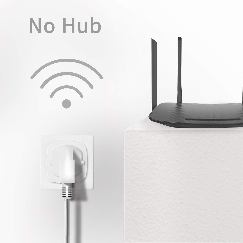 16A 3680W contr/ôle de lapplication fonctionne avec Amaon Alexa Google Home et IFTTT Prise connect/ée Wi-Fi ANOOOPSYCHE intelligente Mini prise Alexa Wifi avec fonction minuterie t/él/écommand/ée