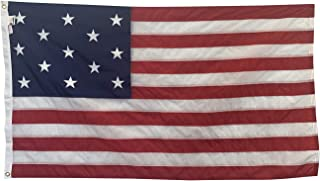 product image for 3x5' Star Spangled Banner 15 Star 15 Stripe Flag, Sewn & Embroidered All Weather Nylon Outdoor Flag, Made in The USA