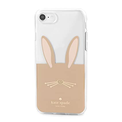 new style b5717 41cb0 Kate Spade New York Women's Rabbit Phone Case for iPhone 8 Clear Multi One  Size