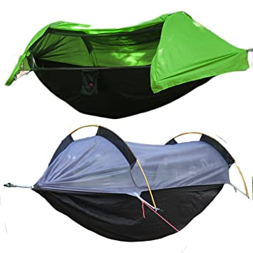 patent camping hammock with mosquito   and rainfly cover  green  amazon    patent camping hammock with mosquito   and rainfly      rh   amazon