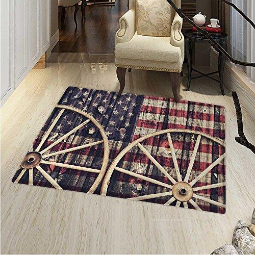 Western Customize Floor mats Home Mat Antique Cart Carriage