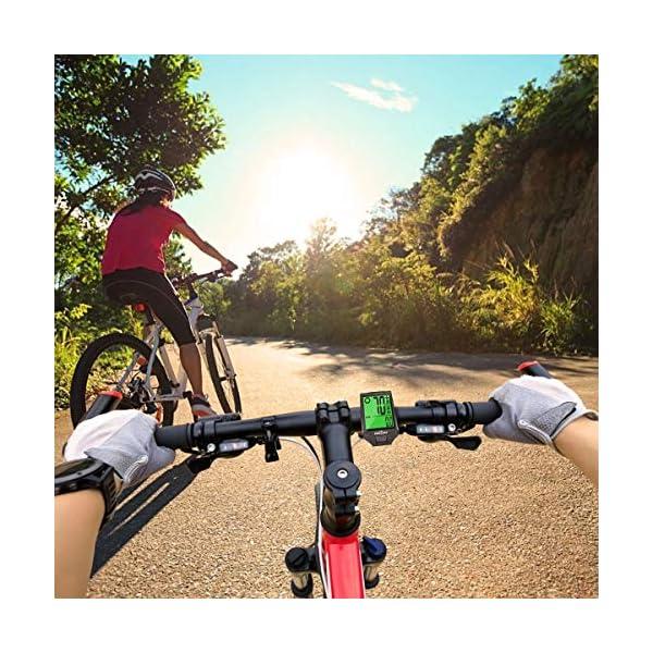 IREGRO Computer da Bicicletta, Grande Display Digitale LCD Contachilometri Bici Impermeabile Computer per Bici, 18… 7 spesavip