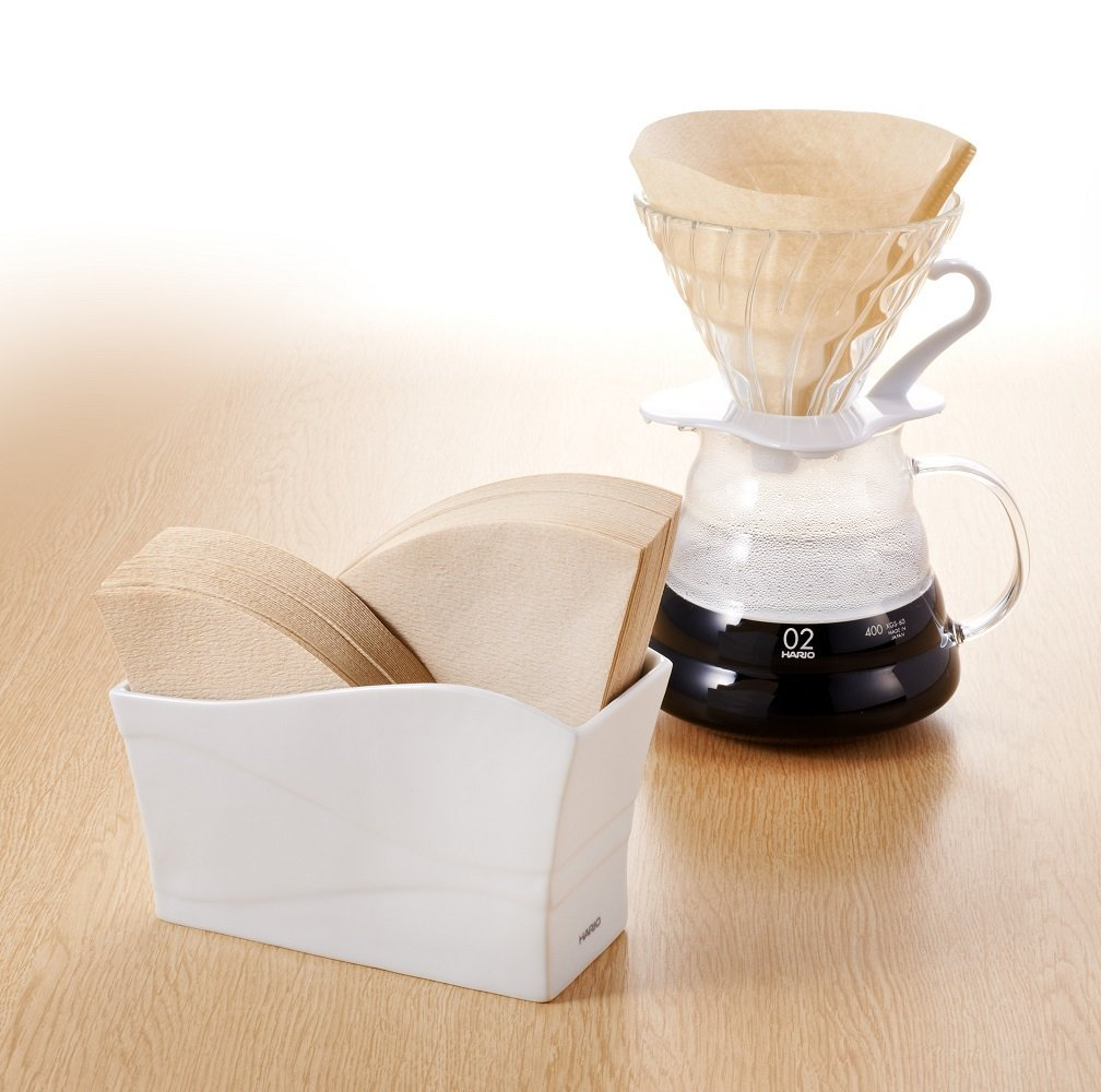 Hario 1 Piece Olive Wood V60 Paper Stand Vps 100 Brown Amazonco Filter Vcf 02 100mk Kitchen Home