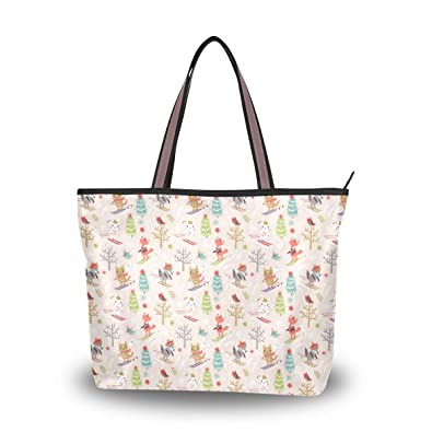 e5295860 Image Unavailable. Image not available for. Color: Rabbit And Cat Christmas  Yard Reusable Tote ...