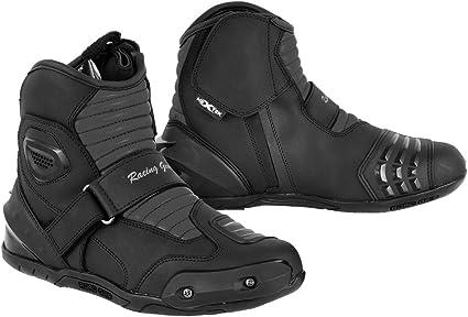 motonouveau chevilleantidérapantréflecteurnoir en cuir pour la Nextek bottes design Demi véritablerenfortprotection uFKTlJc13