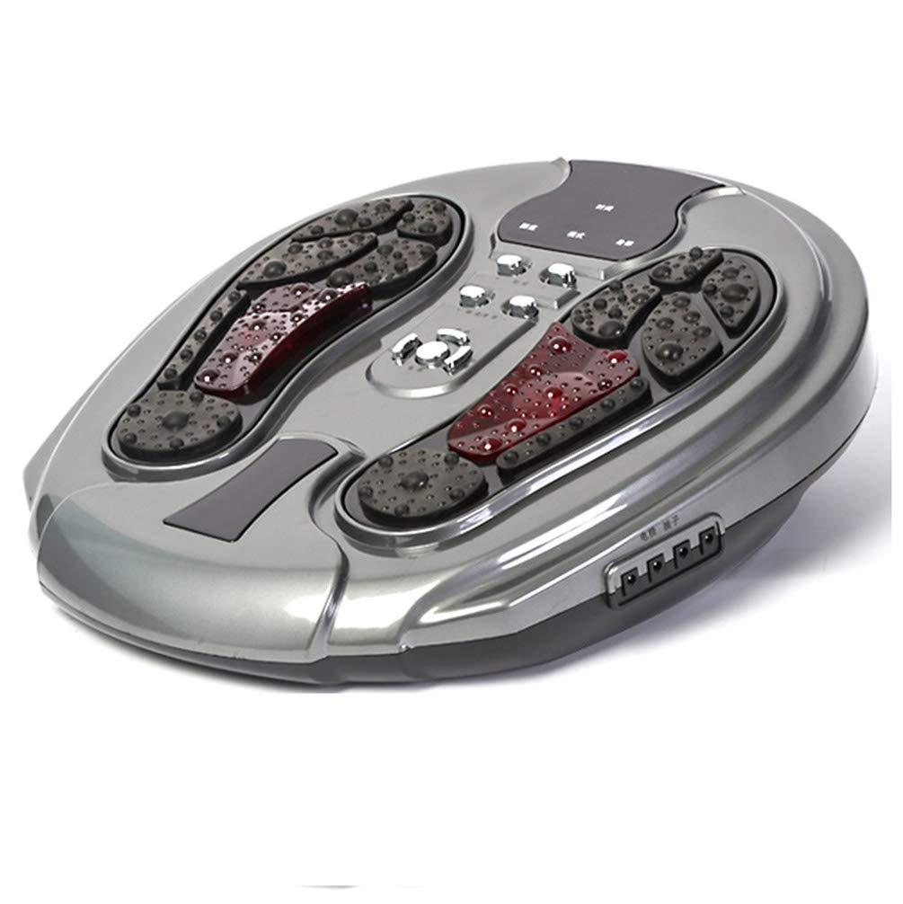 足裏マッサージ機、空気圧縮、足指マッサージおよび家庭でのストレス解消のための熱を伴う電気指圧足裏マッサージ, gray B07TXBP3T1