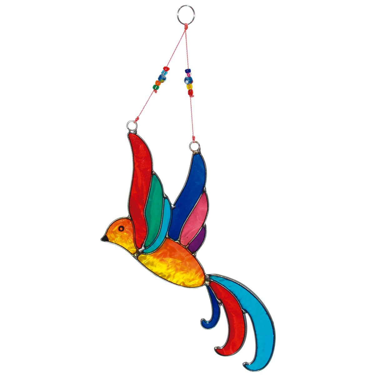 laroom 12462 – Pendant bird 26 cm, Color Multicolor