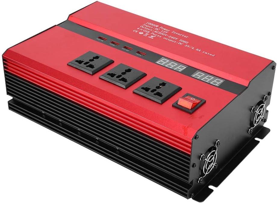 DC12//24V /à AC 220V Convertisseur d/énergie Solaire de Voiture /à onduleur Haute Puissance pour m/élangeurs aspirateurs Jadpes Onduleur Solaire Haute Puissance 12V to 220V 4000W Outils /électriques