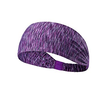 Amazon.com   Moisture Wicking Yoga Headband for Womens - Workout Sweat band a31400d80