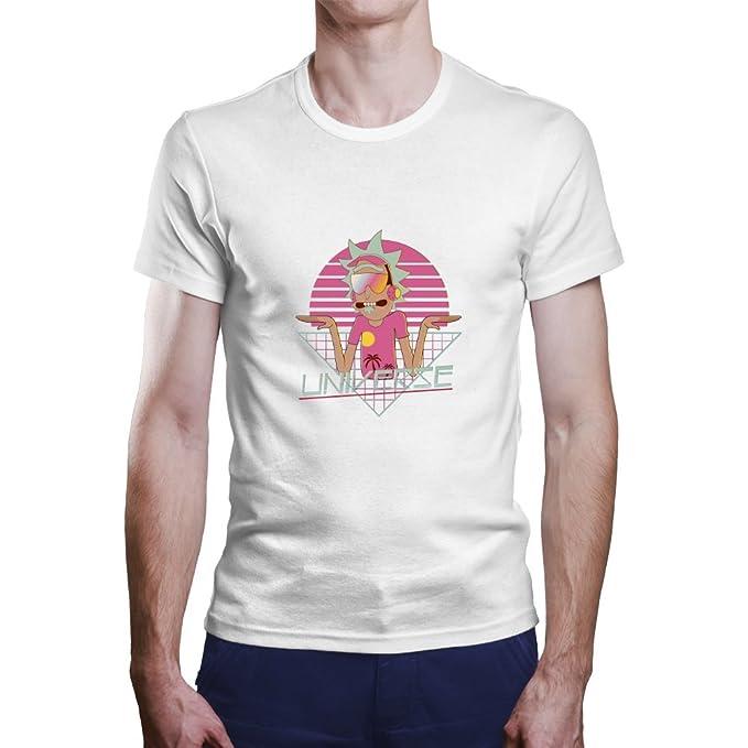 OKAPY Camiseta Rick y Morty. Una Camiseta de Hombre con Rick en Estilo Retro.