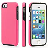 iPhone 5/5s/SE Case, CellEver Dual Guard Protective Shock-Absorbing Scratch-Resistant Rugged Drop Protection Cover for iPhone 5/5S/SE (Pink)
