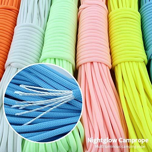 HQ's perfect store Practico Cuerda Que Sube Fluorescente liada del del liada Rescate de la Tienda de campaña al Aire Libre Toda luz de Nylon + Polyester, tamaño: 2000x4mm Unico (Color : Blanco) a30da7