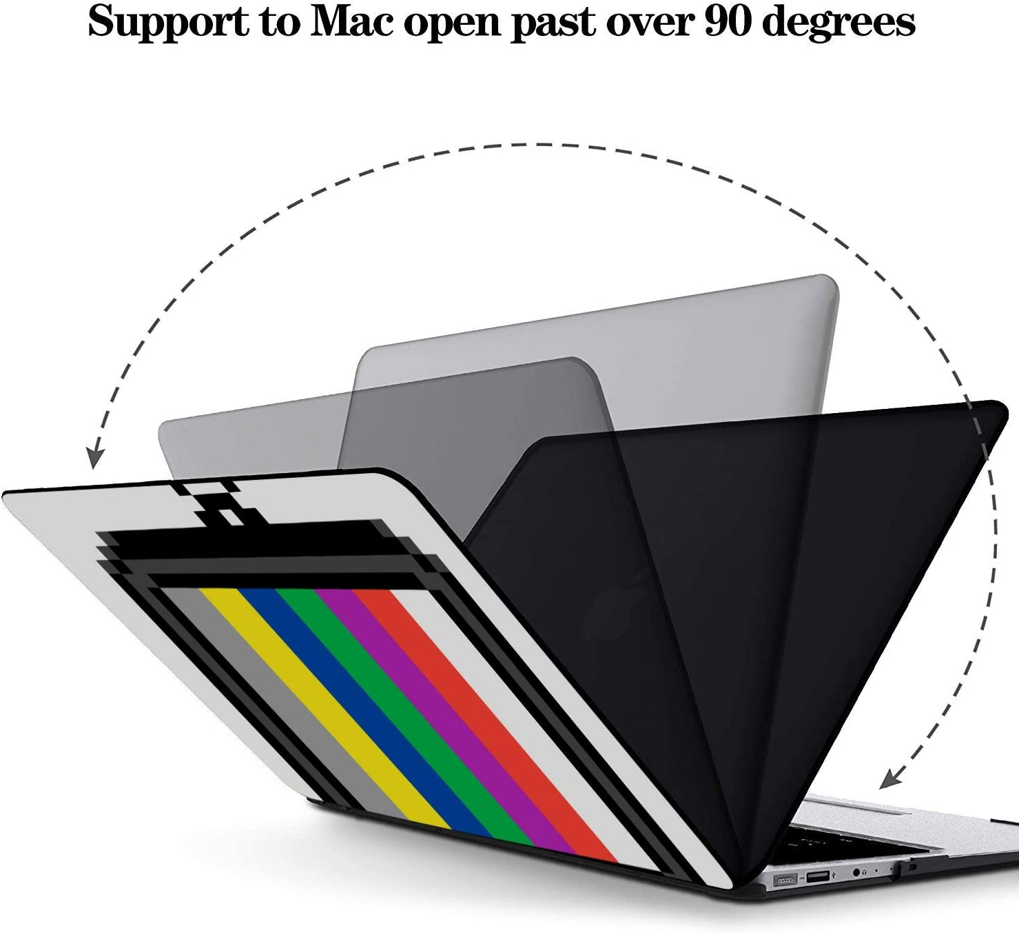 MacBook Pro Laptop Cover Cartoon Retro Tv Pattern Plastic Hard Shell Compatible Mac Air 11 Pro 13 15 MacBook Case 12 Inch Protection for MacBook 2016-2019 Version