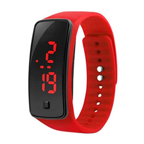 Reloj digital para niños LED Riklos, de silicona, deportivo, informal