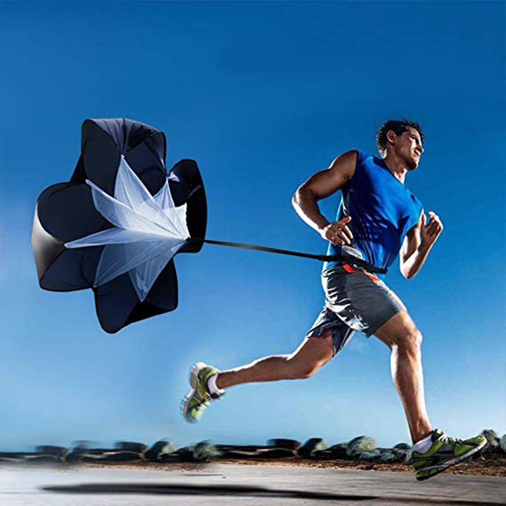 Kampre Running Umbrella Running Speed Training 56 Pulgadas Speed Resistance Parachute Running Sprint Chute Resistance Running Parachute