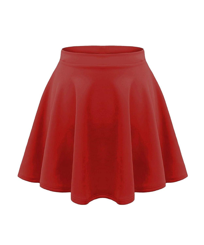 GirlzWalk ® New Girls Kids Flared Plain High Waist Flippy Short Mini Skater Skirt