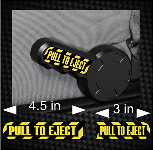 Pair of PULL TO EJECT Seat Handle JEEP Wrangler Vinyl Decal Sticker Set JK TJ (Decal Seat)