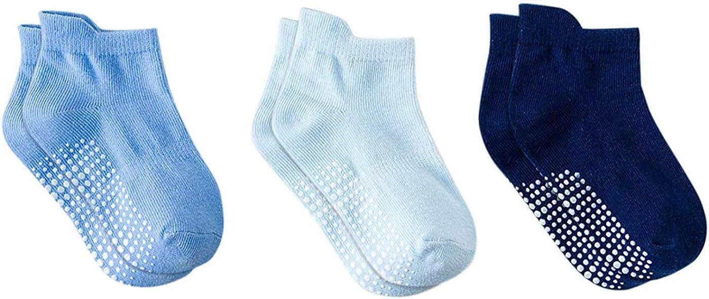 DEBAIJIA 6 Pares de Beb/és Antideslizante Calcetines de Algod/ón Calcetines El/ásticos para Ni/ños Ni/ñas 0-5 a/ños Calcetines y Confortables para Primavera Verano