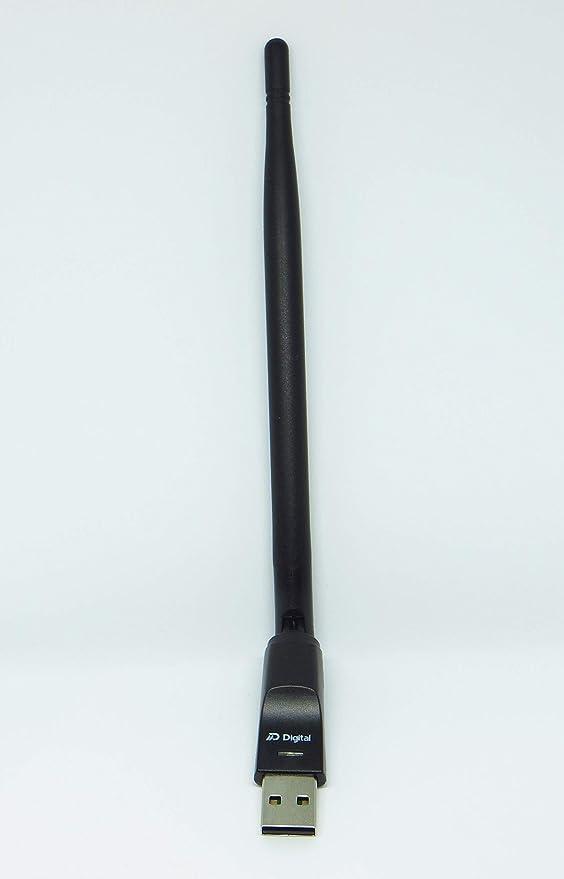 DM-Digital Adaptador USB-WiFi, 5dB Antena Wi-Fi MT7601 (MediaTek)