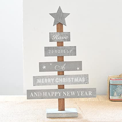 amiley christmas tree decorations hot sale merry christmas bedroom desk decoration gift office home wooden