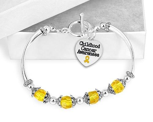 Amazon Com Childhood Cancer Awareness Partial Beaded Bracelet 1