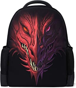 ALAZA Dragon Casual Backpack Waterproof Travel Daypack School Bag