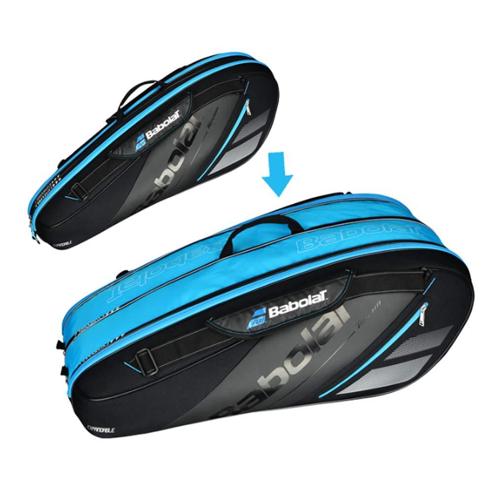 拡張可能なスペースバドミントンラケットバッグ テニスラケットバッグ バドミントンバックパック ショルダーバッグ B07KC4ZPT1