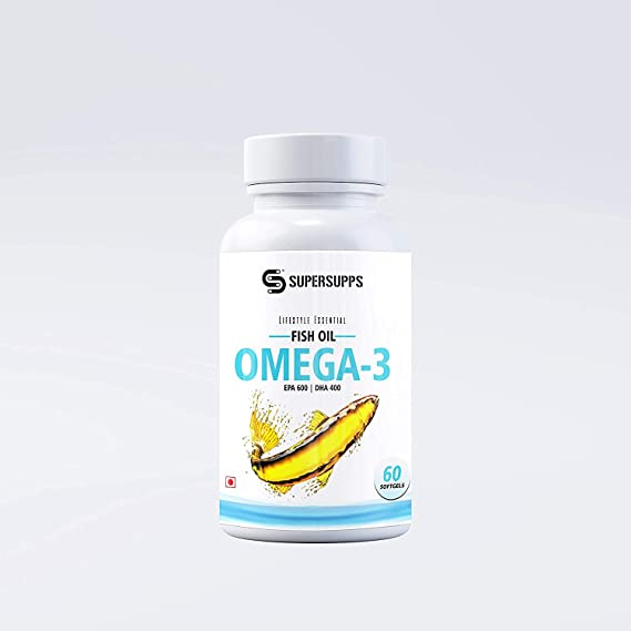 Supersupps Omega 3 Fish Oil Triple 3X Strength Epa 600, Dha 400 For Healthy Heart, Joints, Brain (Pack Of 1) : Amazon.in
