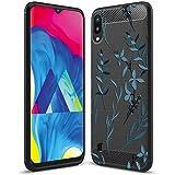 Fashionury Blue Flowers Back Cover for Samsung Galaxy M10/Samsung Galaxy M10 Printed Case & Cover/Soft Rugged Armor Cover for Samsung Galaxy M10