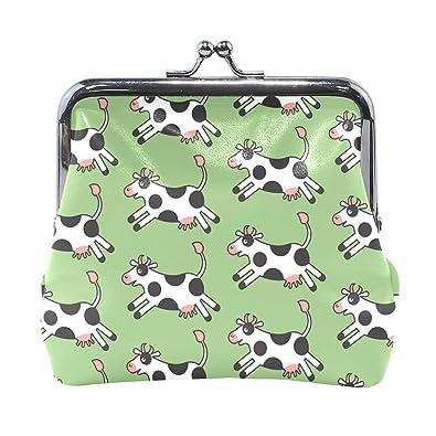 Amazon.com: LALATOP Cartoon Cow - Monedero para mujer ...