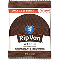 Rip Van Wafels Chocolate Brownie Stroopwafels - Healthy Snacks - Non GMO Snack - Keto Friendly - Office Snacks - Low…
