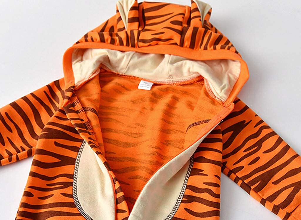0-2Yeas,Zimuuy Newborn Infant Baby Girls Boys Cartoon Tiger Hooded Romper Jumpsuit Outfits