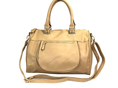 Amazon.com  Zzfab European Designer Handbag Style Large Satchel -Beige   Shoes 4d5b44e636f16