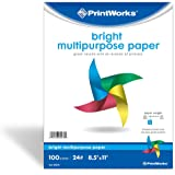 Printworks Bright Multipurpose Paper, 8.5 x 11 Inch, 24-Pound, Assorted Colors, 100 Sheets (00576)