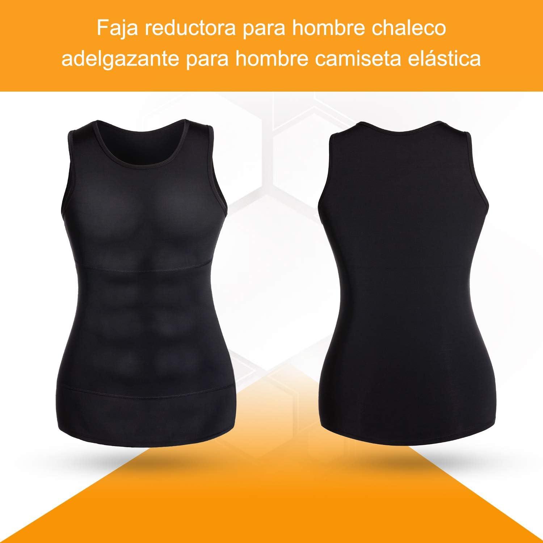 Bingrong Faja Reductora para Hombre Chaleco Adelgazante para Hombre Camiseta elástica para Abdomen Ropa Interior Reductora: Amazon.es: Deportes y aire libre