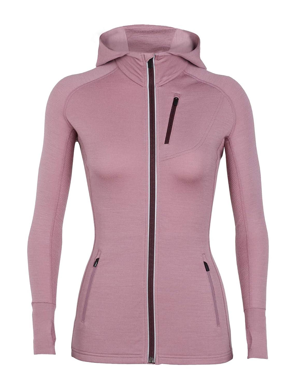 Icebreaker Women's Quantum Long Sleeve Zip Hooded Top 101466001S