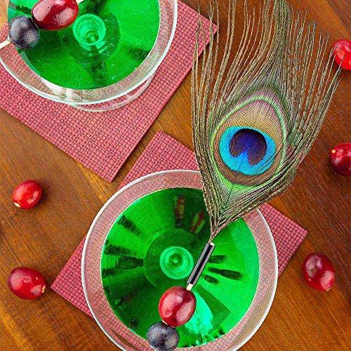 Peacock Eye Skewer, Peacock Feather Eye Pick - 4'', Natural - 500ct Box - Restaurantware by Restaurantware (Image #2)