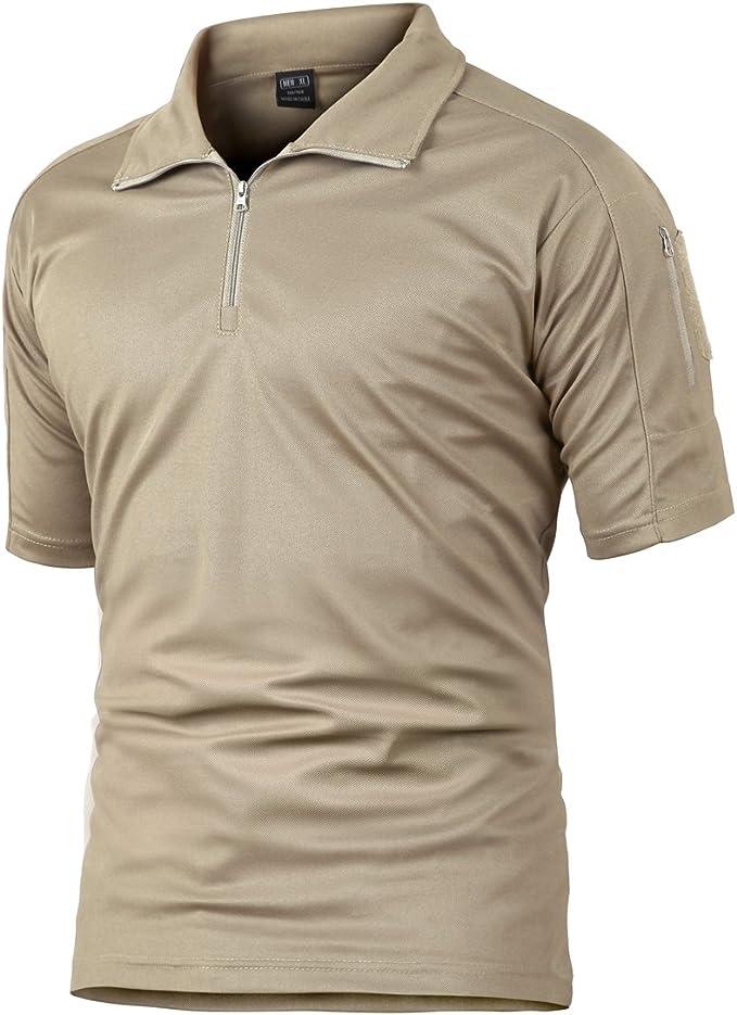 Camisa de Combate para Hombres Caza táctica Militar Polo de Manga ...