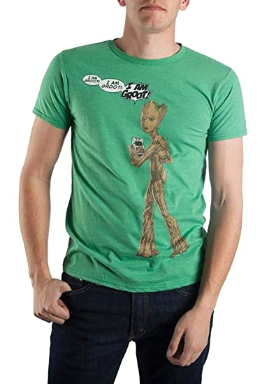 Amazon.com  Guardians of The Galaxy I Am Groot Shirt Character Tee ... e5108f486