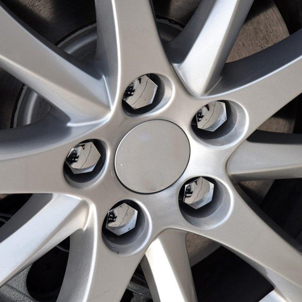 Slivercolor 20PCS 17mm Wheel Caps SET Covers Wheel Caps Wheel Nut Caps Wheel Bolts